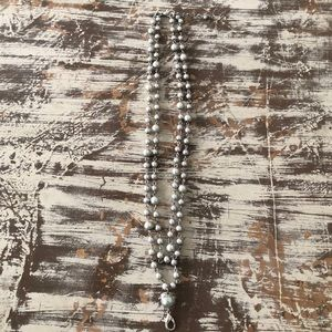 Jewel Kade Double Layer Grey Pearl Necklace